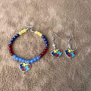 Austin's bracelet and earring set